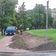 Щось «не так» з газоном в сквері Хмельницького