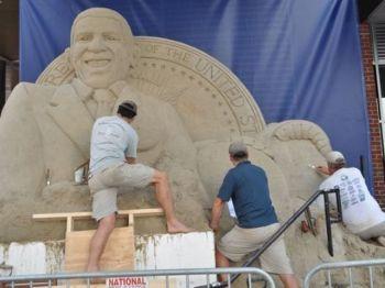 У США Обаму зліпили з піску