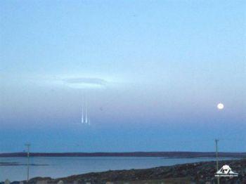 Над Арктикой НЛО открыло небесные врата