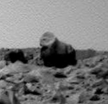 На Марсе обнаружено горилоподобное внеземное существо